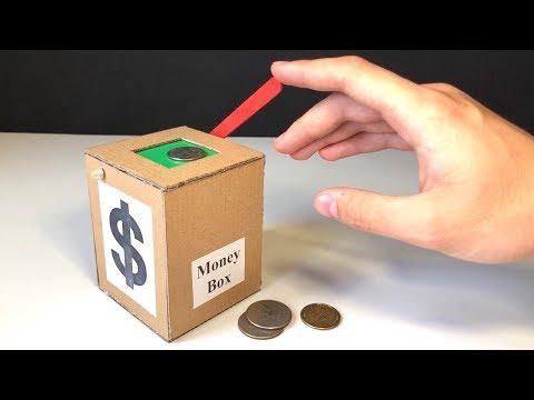 How to Make Coin Bank Box at Home