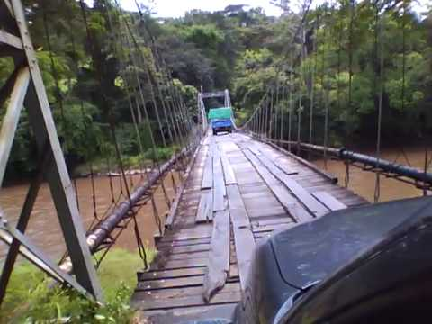 Cable Suspension Bridge on the road to Puriscal, Costa Rica
