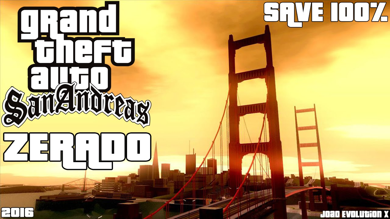o save zerado do gta san andreas