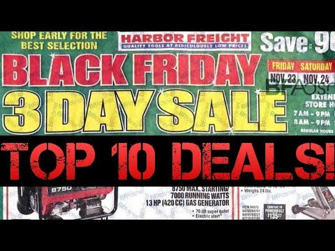 Top 10 Black Friday Deals At Harbor Freight!