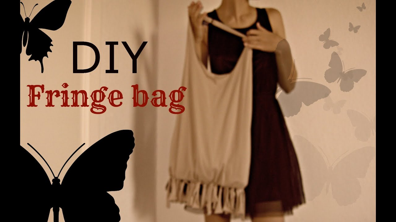 DIY: easy BOHO hobo fringe bag (no sew) - YouTube