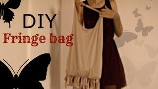 DIY: easy BOHO hobo fringe bag (no sew)
