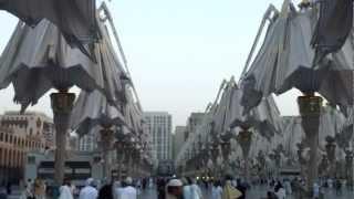 Opening of the umbrellas in Al-Madinah Al-Munawwarah