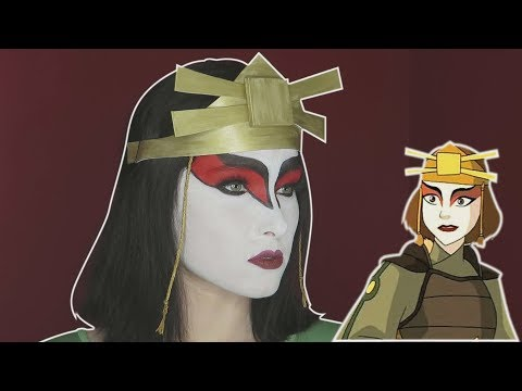 Kyoshi Warrior (Avatar The Last Airbender) Cosplay Makeup Tutorial