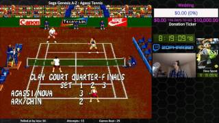 Sega Genesis A Z : Agassi Tennis (journey To Beat Every Sega Genesis Game) Day 6