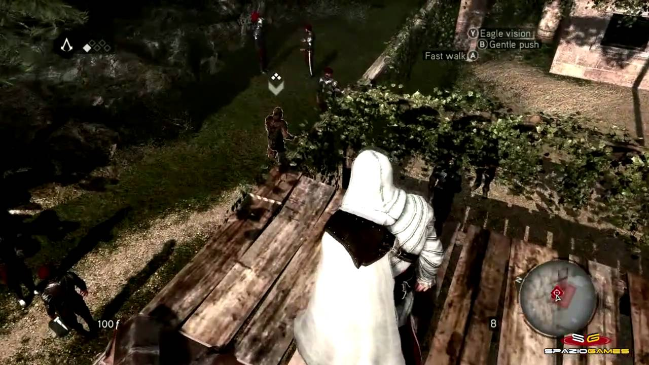 Assassin S Creed Brotherhood Ps3 Xbox 360 Gameplay Youtube