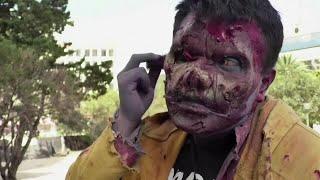 Mexico's undead dodge COVID-19 at zombie parade