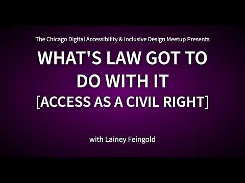 Accessibility Legal Update with Lainey Feingold