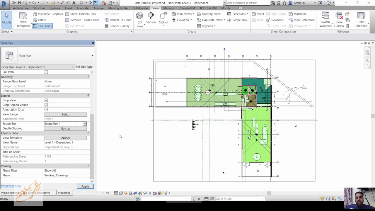 Drawing Lines Revit : Revit match line scopebox view refrence youtube