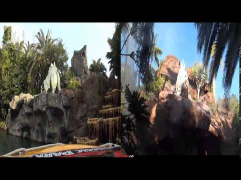 Compare the Jurassic Park the ride of USJ and USA