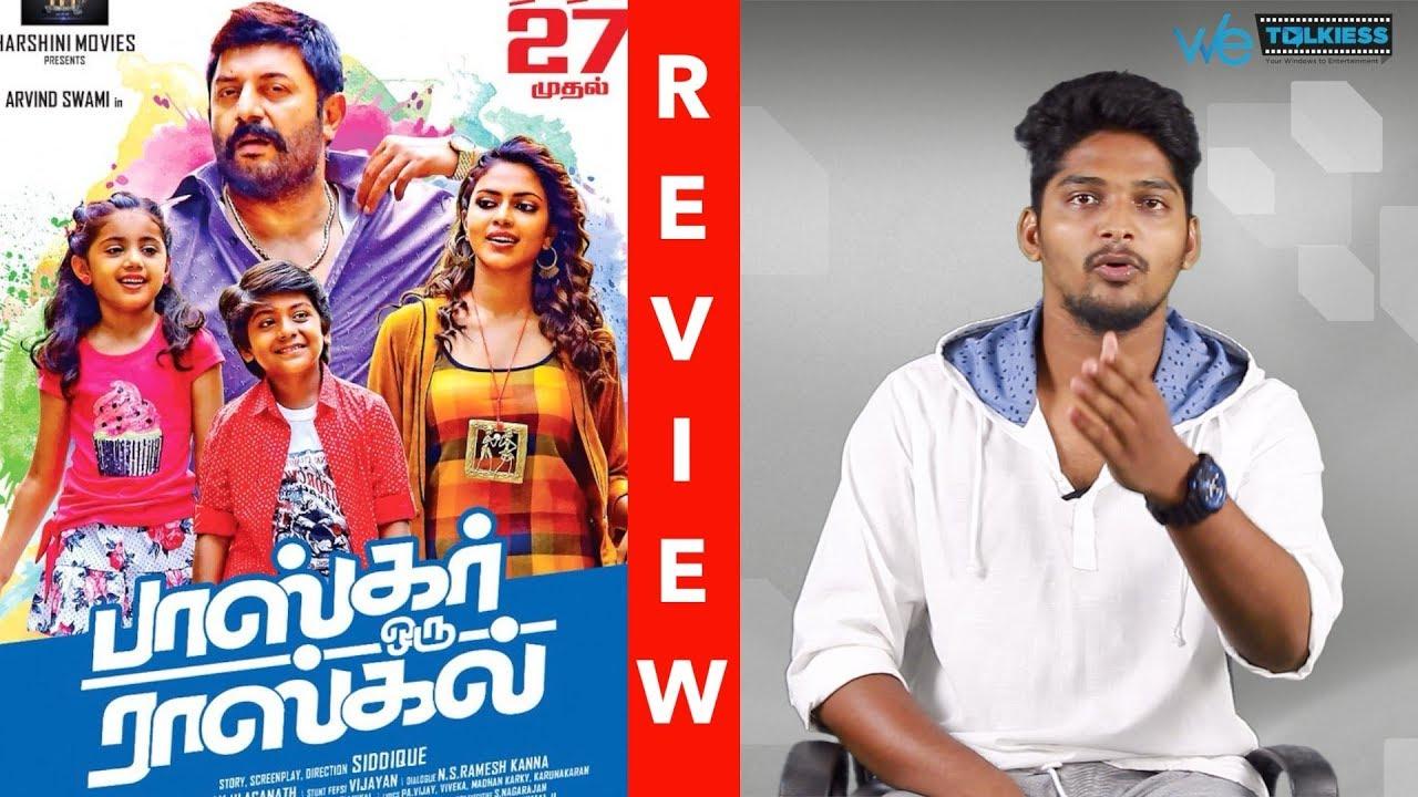 Bhaskar Oru Rascal Movie Review Arvind Swamy Amala Paul Theri Nainika Wetalkiess