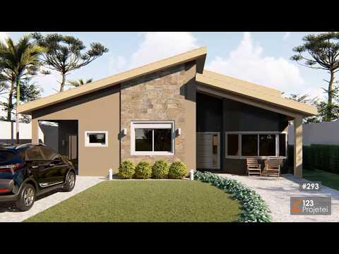 Casa Térrea de 180m² com Estilo Comtemporâneo - Projeto #293