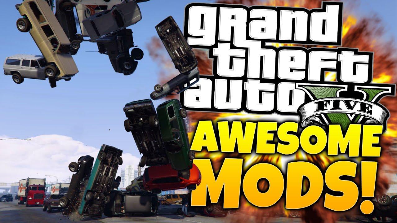 4 Awesome GTA 5 Mods - Gardener Mod, Force Mod, Particle Guns & DrunkIV -  GTA 5 PC Mods