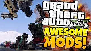 4 Awesome GTA 5 Mods - Gardener Mod, Force Mod, Particle Guns & DrunkIV - GTA 5 PC Mods