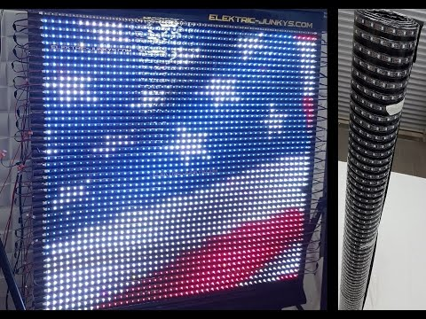 How to Make Flexible LED Panel Video Screen DIY T300K real t