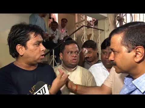 Delhi CM Arvind Kejriwal & Edu Minister Manish Sisodia interacts with Guardians of Rabea School