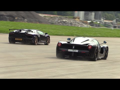 Download Lamborghini Aventador SVJ vs Ferrari LaFerrari