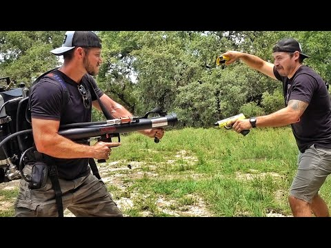 Testing Less Than Lethal Weapons....on Each Other!!! w/ DonutOperator