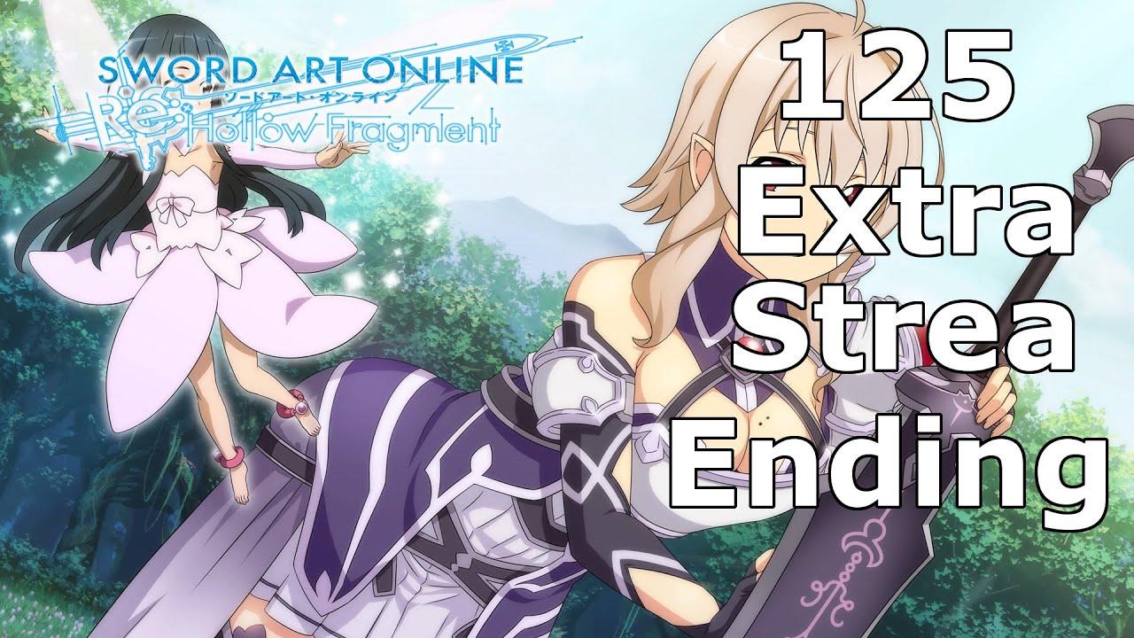 sword art online hollow fragment strea ending relationship