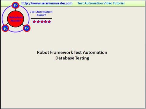 robot framework training video | robot framework online demo