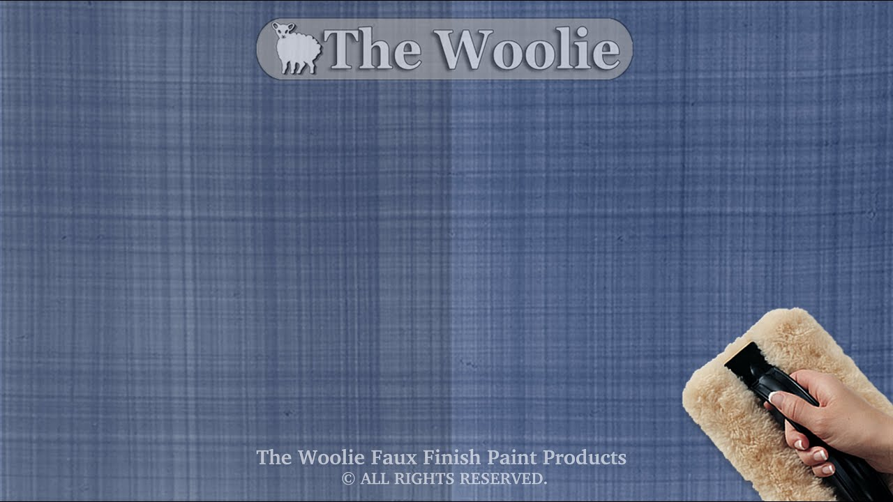 How To Faux Finish Step Instruction   Linen Denim Technique By The Woolie  (How To Paint Your Walls)   YouTube