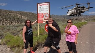 Storming Area 51 FOR REAL! Chased By BLACK HAWK HELICOPTER! Storming Area 51 Gone Wrong