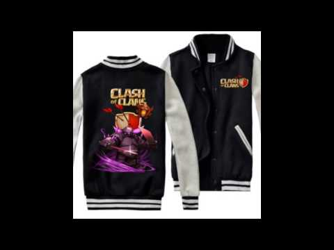 COC Clash of Clans baseball jackets