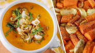 ЗАПЕЧЕННЫЙ СУП морковный вкусный и полезный для иммунитета постный веганский рецепт