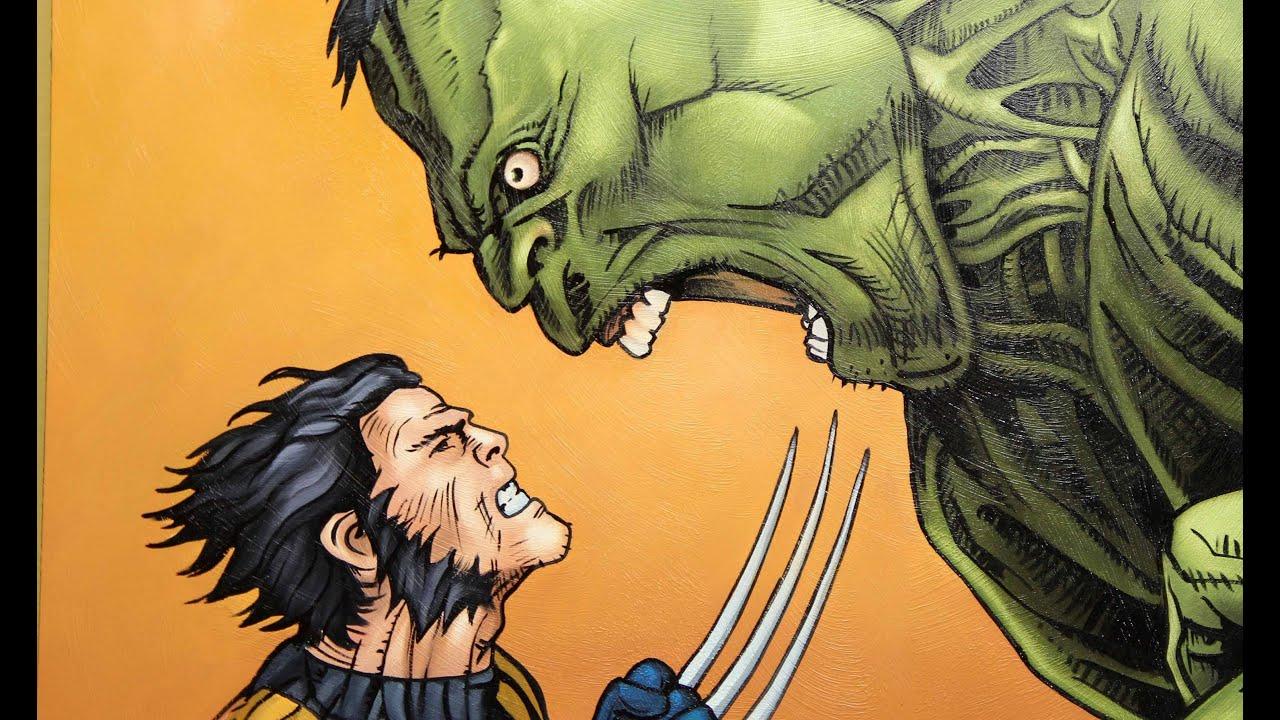 Pintando : Wolverine  x Hulk
