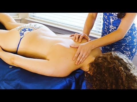 Deeply Relaxing Massage with Melissa & Corrina, Soft Spoken with Music, ASMR