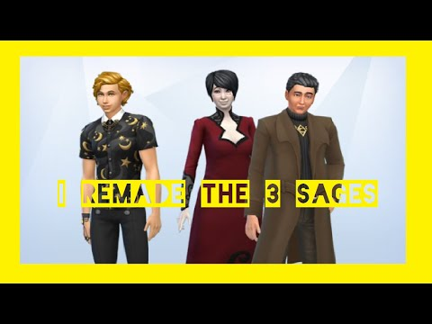 I remade the sages from/The Sims 4 Realm of Magic |