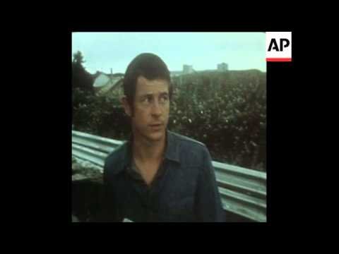 SYND 30-7-73 INTERVIEW WITH RACING DRIVER DAVID PURLEY REGARDING THE DEATH OF ROGER WILLIAMSON