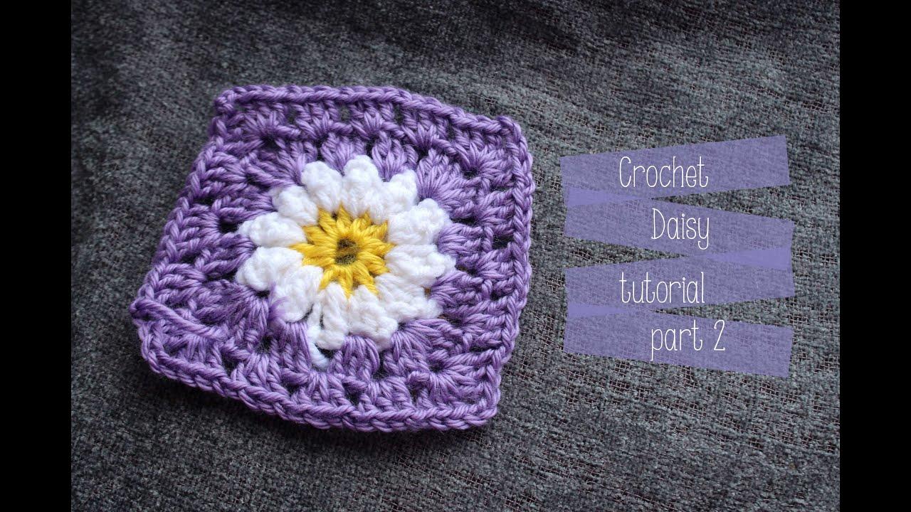 Crochet Daisy square Tutorial - YouTube