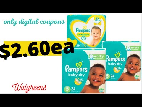 STOCK UP ON DIAPERS! WALGREENS COUPONING THIS WEEK! ALL DIGITAL COUPONS!