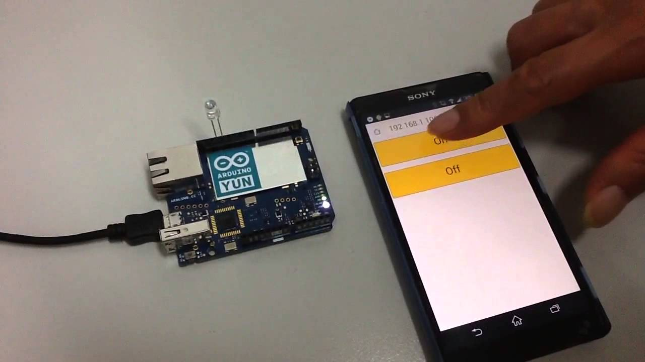 Arduino yun wireless control led with rest api youtube