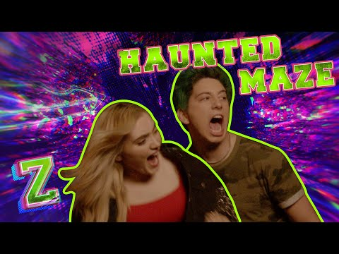 meg-and-milo-take-on-the-haunted-maze-challenge!🎃-|-zombies-2-|-disney-channel