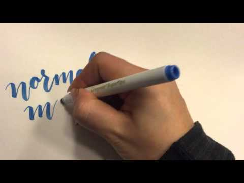 Calligraphy with a Regular Crayola Marker