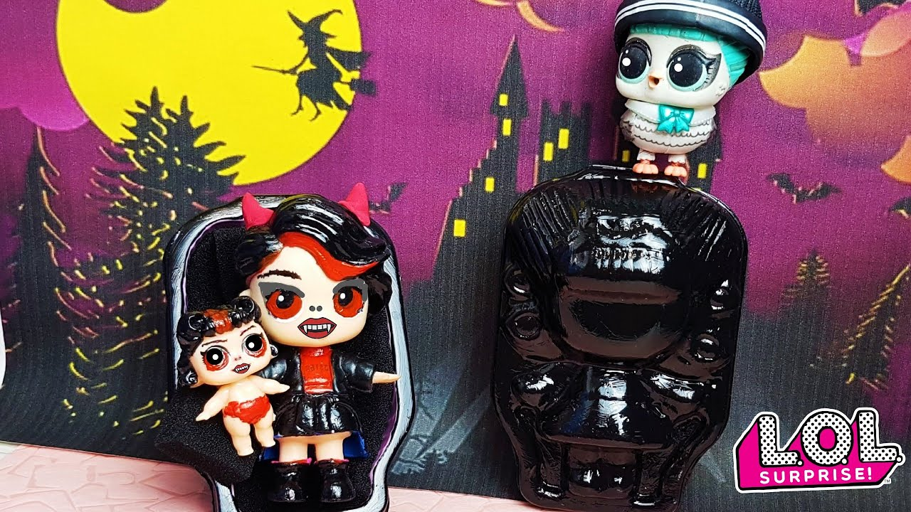СЕМЕЙКА ВАМПИРОВ ЛОЛ СЮРПРИЗ|FAMILY OF VAMPIRES LOL SURPRISE Лайфхаки для кукол Барби ЛОЛ