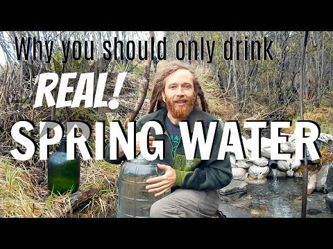 Why you should only drink REAL live spring water & How to get FREE access to a spring near you
