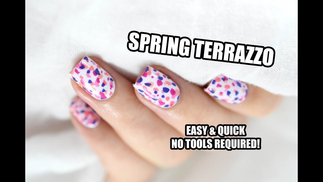 How To: Easy Spring Terrazzo Nail Art || Marine Loves Polish - YouTube