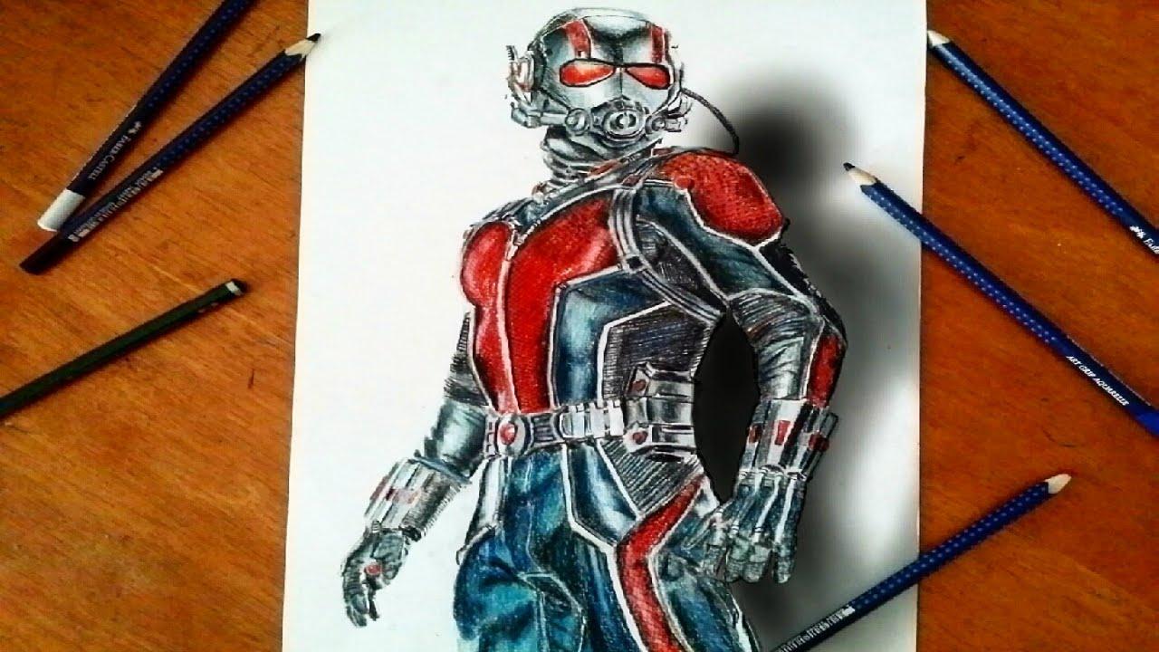 dessin réaliste de ant-man - marvel movie - YouTube