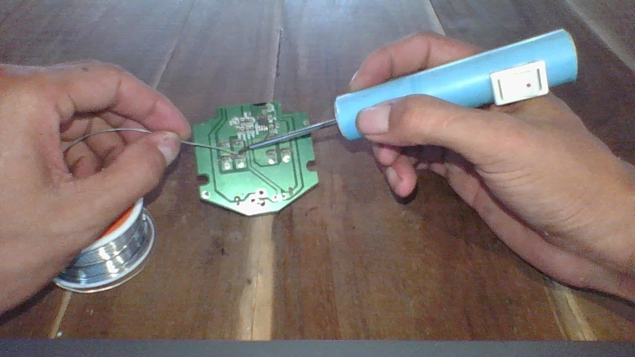 mini soldering iron , how to make a battery powered soldering iron at home