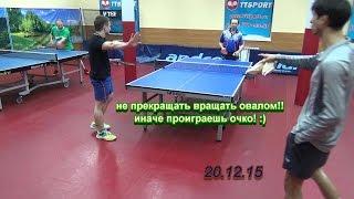 table tennis - oval-spin - не прекращать вращать!