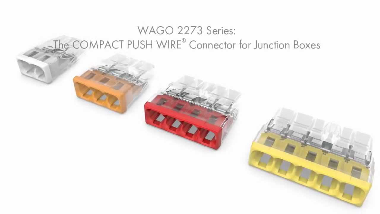 WAGO 2273 Series The COMPACT PUSH WIRE Connector for Junction Boxes ...