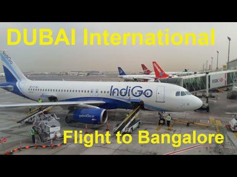DUBAI International Airport Indigo 6E-096 Dubai : Bangalore Boarding to Takeoff Full Coverage