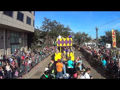 2015 Joe Cain Parading Society Mardi Gras Parade in Mobile, Alabama (Part 1)