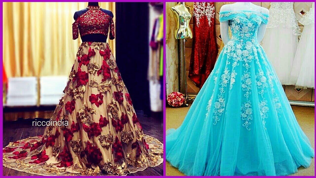 ➤ Latest Party Wear Dress Ideas 2018 lI Designer Long Frock Dresses ...