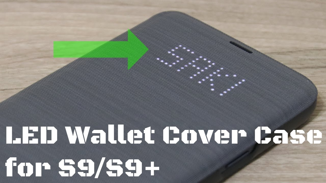 hot sale online 99f0c b6c64 Official Samsung Galaxy S9 LED Wallet Cover Case - Detailed Review