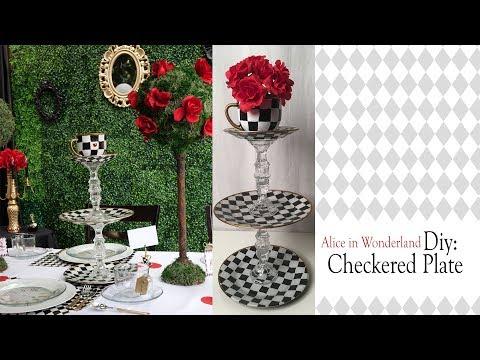 Alice in Wonderland DIY / CHECKERED PLATE