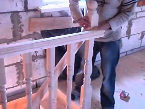 Деревянные лестницы на второй этаж, ступени, перила цена